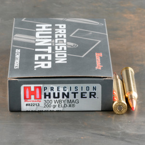 200rds – 300 Weatherby Mag Hornady Precision Hunter 200gr. ELD-X Ammo