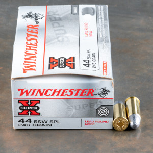 50rds - 44 Special Winchester Super-X 246gr. Lead Round Nose Ammo