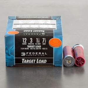 "250rds - 12 Gauge Federal Top Gun Target Load 2 3/4"" 1 1/8oz. #7 1/2 Shot Ammo"