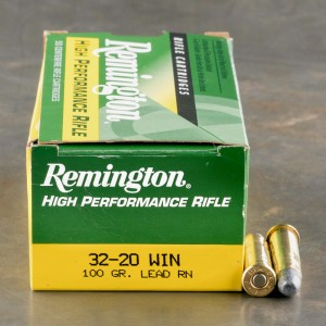50rds – 32-20 Win Remington High Performance Rifle 100gr. LRN Ammo