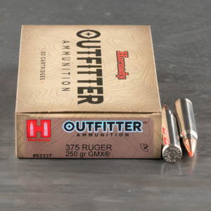 20rds – 375 Ruger Hornady Outfitter 250gr. GMX Ammo