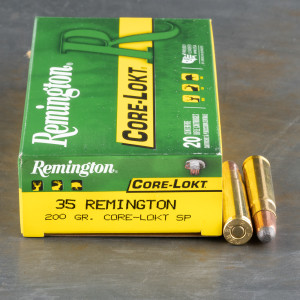 20rds - 35 Remington 200gr. Core-Lokt Soft Point Ammo