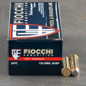 1000rds - 357 Mag Fiocchi 125gr Semi Jacketed Soft Point