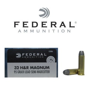20rds - 32 H&R Magnum Federal Champion 95gr. Lead Semi-Wadcutter Ammo