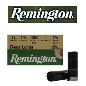 "25rds - 12 Gauge Remington Game Load 2 3/4"" 1oz. #7 1/2 Shot Ammo"