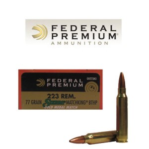 20rds - 223 Federal Gold Medal Match 77gr. BTHP Ammo