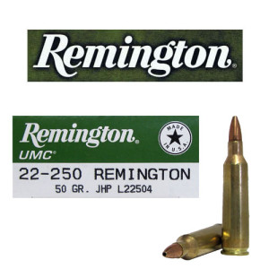 20rds - 22-250 Remington UMC 50gr. JHP Ammo
