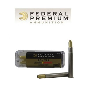 20rds - 9.3x74R Federal Cape-Shok 286gr. Barnes Banded Solid Ammo