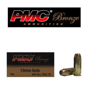 50rds - 10mm PMC Bronze 200gr. FMJ TC Ammo