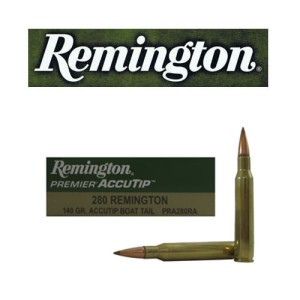 20rds - 280 Remington Premier Accutip 140gr. Polymer Tip Boat Tail Ammo