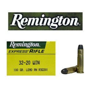 50rds - 32-20 Win. Remington 100gr Lead RN Ammo