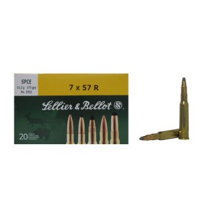 20rds - 7mm Mauser Rimmed (7x57R)  Sellier & Bellot 173gr. SP Ammo