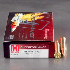 20rds - 338 Win Mag  Hornady Superformance 185gr. GMX Ammo