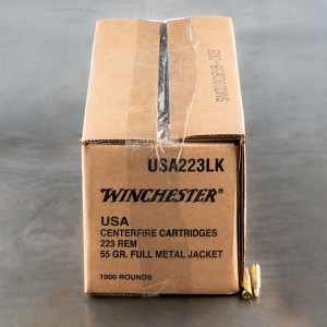 1000rds – 223 Rem Winchester USA 55gr. FMJ Ammo