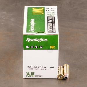 600rds - 38 Special +P Remington UMC 125gr. SJHP Ammo