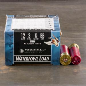 "25rds - 12 Ga. Federal Speed-Shok 3"" 1 1/8oz #BB Steel Shot Ammo"