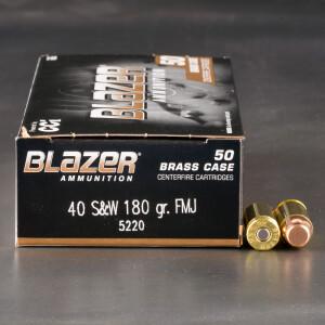 1000rds - 40 S&W Blazer Brass 180 Grain FMJ Ammo
