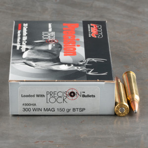 200rds – 300 Win Mag PMC Precision 150gr. SPBT Ammo