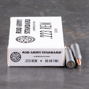 1000rds – 223 Rem Red Army Standard 55gr. FMJ Ammo