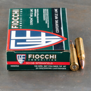 20rds - 30-06 Fiocchi Extrema Hunting 150gr. SST Ammo
