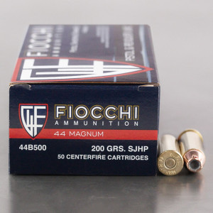 500rds - 44 Mag Fiocchi 200gr. SJHP Ammo