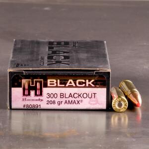 20rds - 300 AAC BLACKOUT Hornady Black 208gr. A-Max Ammo