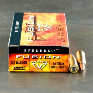 20ds - 224 Valkyrie Federal Fusion 90gr. SP Ammo