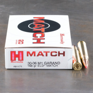20rds - 30-06 Hornady Vintage Match 168gr. ELD Match Ammo
