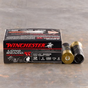 "10rds - 12 Gauge Winchester Long Beard XR 3"" 1-7/8 Ounce #4 Shot Ammo"