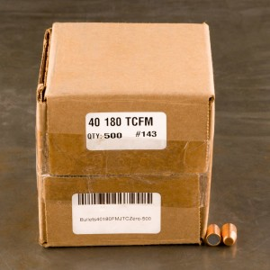 "500pcs - 40 Cal .400"" Dia Zero 180gr. FMJ-TC Bullets"