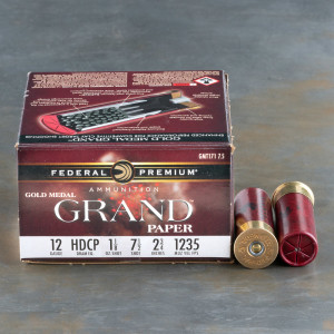 "12 Gauge - 2 3/4"" 1-1/8 oz. #7.5 Shot - Federal Gold Medal Paper Target Load - 250 Rounds"