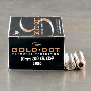 500rds - 10mm Speer Gold Dot 200gr. JHP Ammo