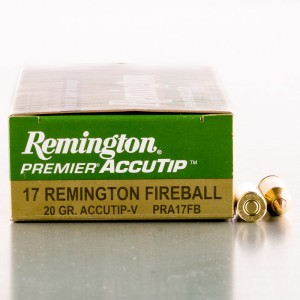 20rds – 17 Fireball Remington 20gr. AccuTip-V Ammo