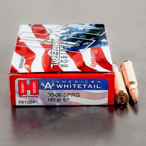 20rds - 30-06 Hornady American Whitetail InterLock 180gr. SP Ammo