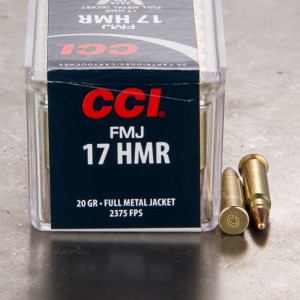 50rds - .17 HMR CCI 20gr. FMJ Ammo