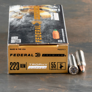 20rds – 223 Rem Federal 55gr. Trophy Copper Ammo