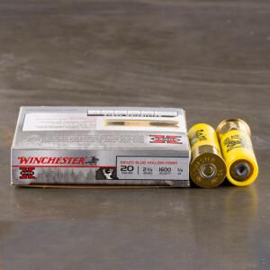 """5rds – 20 Gauge Winchester Super-X 2-3/4"""" 3/4oz. Rifled Slug Ammo"""
