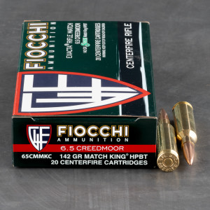 20rds – 6.5 Creedmoor Fiocchi 142gr. MatchKing HPBT Ammo