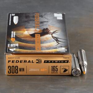 20rds - 308 Win. Federal Vital-Shok 165gr. Trophy Bonded Tip Ammo