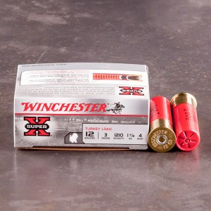 "100rds - 12 Gauge Winchester Super-X 3""  1 7/8oz.  #4 Turkey Load"