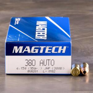 50rds – 380 Auto Magtech 95gr. JHP Ammo