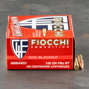 500rds – 300 AAC Blackout Fiocchi 150gr. FMJBT Ammo
