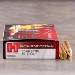 20rds - 30-06 Hornady Superformance 150gr. SST Ammo