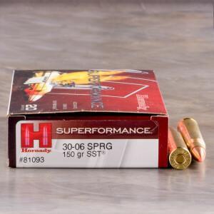 20rds - 30-06 Hornady Superformance 150gr. SST Ammo