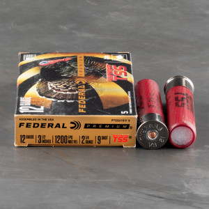 "5rds – 12 Gauge Federal Heavyweight TSS 3 1/2"" 2 1/4oz. #9 Shot Ammo"