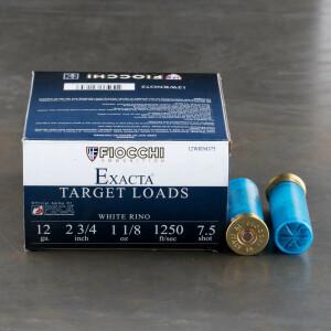 "250rds - 12 Gauge Fiocchi White Rino 2 3/4"" 1 1/8oz. #7 1/2 Shot Ammo"