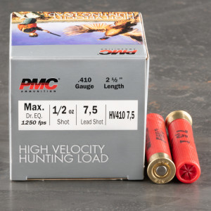 "250rds – 410 Gauge PMC High Velocity Hunting Load 2-1/2"" 1/2oz. #7.5 Shot Ammo"