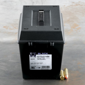 150rds – 450 Bushmaster Hornady BLACK 250gr. FTX Ammo in Field Box