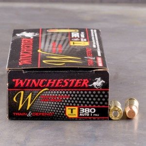 50rds - 380 Auto Winchester W Train and Defend 95gr. FMJ Ammo
