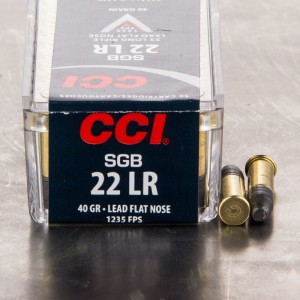 50rds - 22LR CCI Small Game 40gr. Lead Flat Nose Ammo